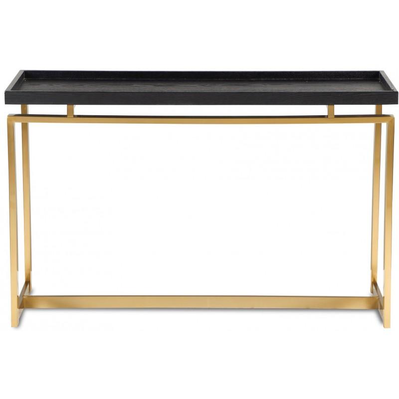 Liang & Eimil Malcom Black Ash Console Table - Brass