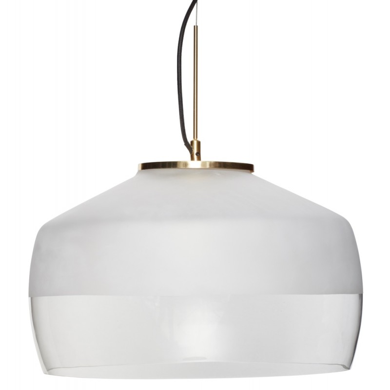 Hubsch Pendant Lamp In Clear And Frosted Glass | Brass