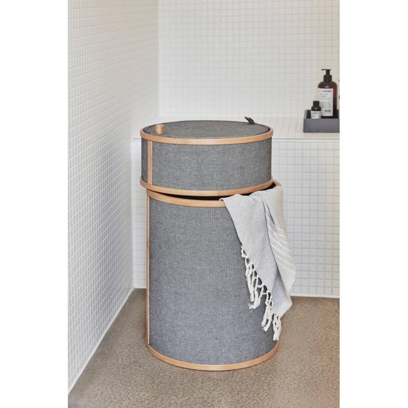 Hubsch Bamboo Laundry basket