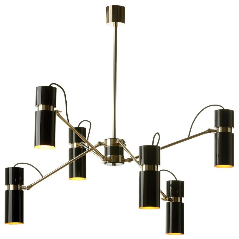Villa Lumi Astaire Brass Ceiling Lamp