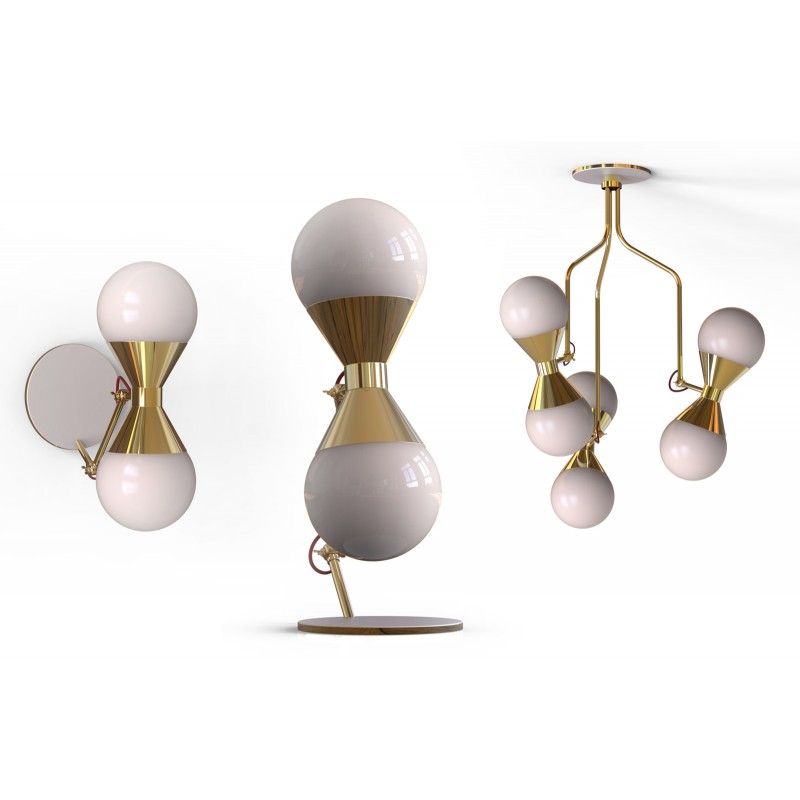 Villa Lumi Hourglass Table Lamp