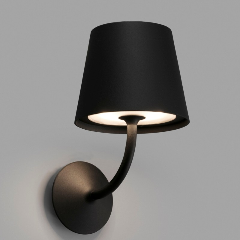 Faro Toc Garden Wall Lamp Black