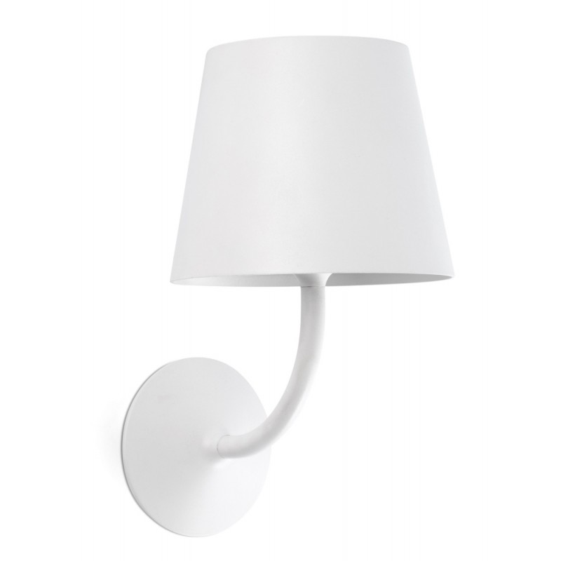 Faro Toc Garden Wall Lamp White