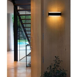Faro Sticker LED Dark Grey Wall Lamp