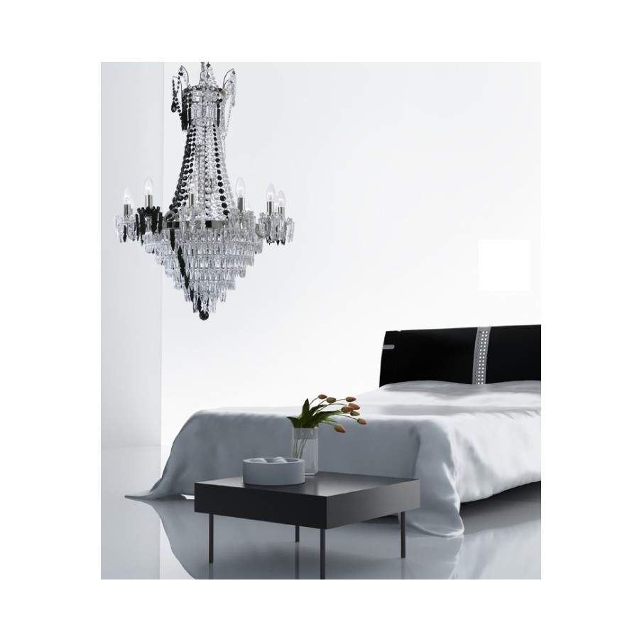Villa Lumi Milena Glass Chandelier