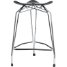 Kubikoff Diamond Base Low Stool With Leather Seat