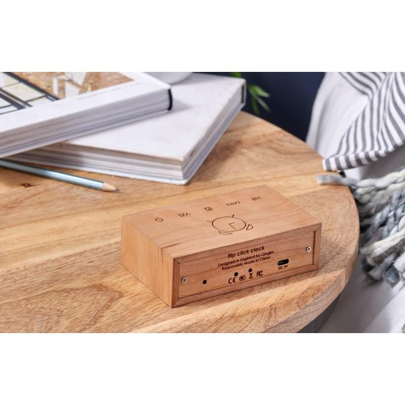 Gingko Electronics Flip Cilck Clock - Cherry