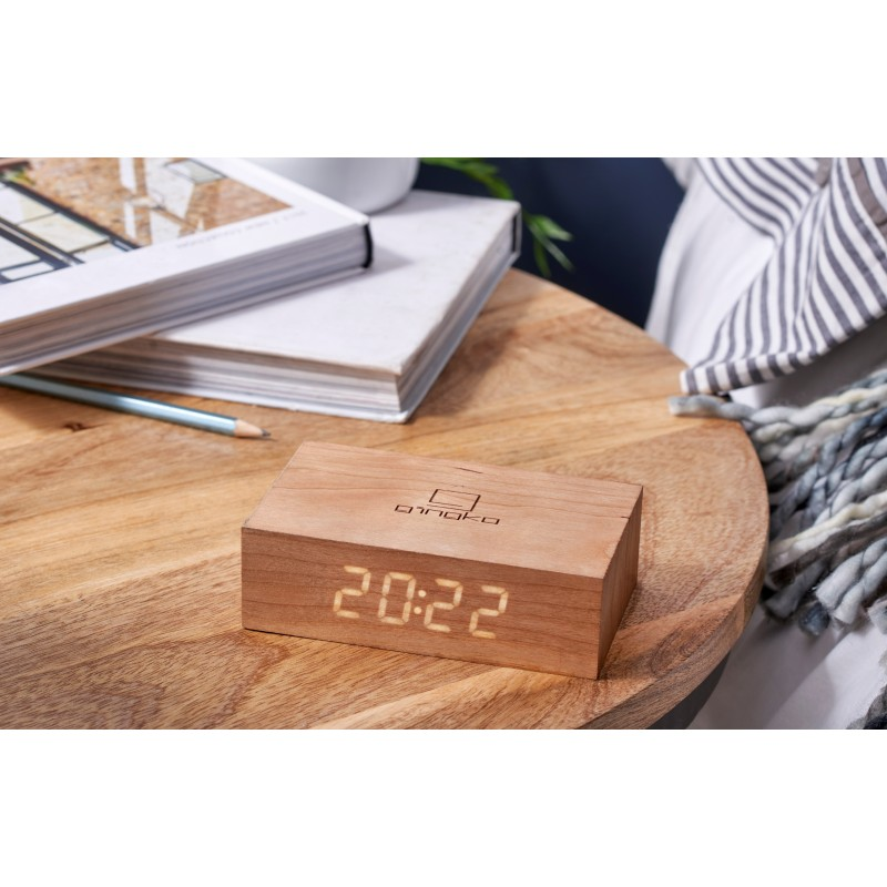 Gingko Electronics Flip Cilck Clock - Cherry