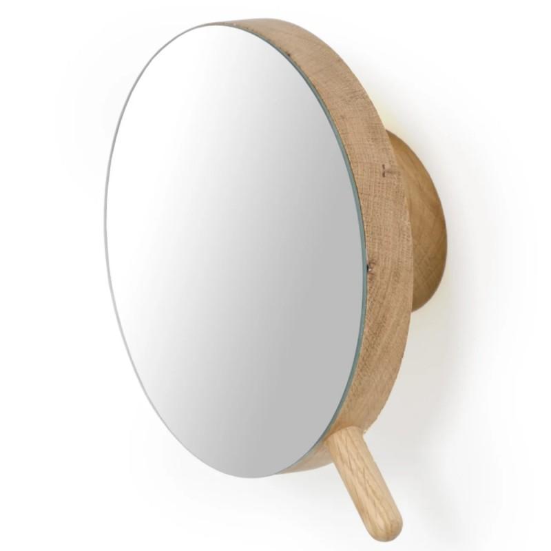 Wireworks Magnifying Wall Mirror Slimline - Natural Oak