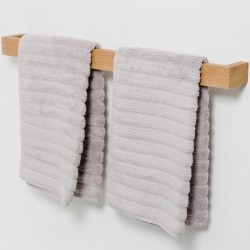 Wireworks Wall Towel Rail Slimline 72cm - Natural Oak