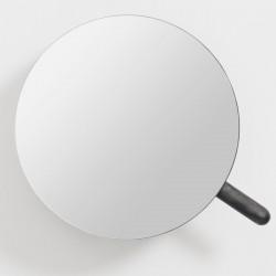 Wireworks Magnifying Wall Mirror Slimline - Dark Oak