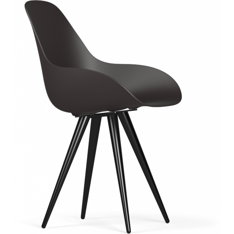 Kubikoff Black Angel Contract Dimple Closed Shell Chair