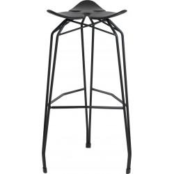 Kubikoff Diamond Base Low Stool With Leather Seat - Black Base