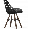 Kubikoff Ashwood Black Zig Zag Dimple Shell Chair