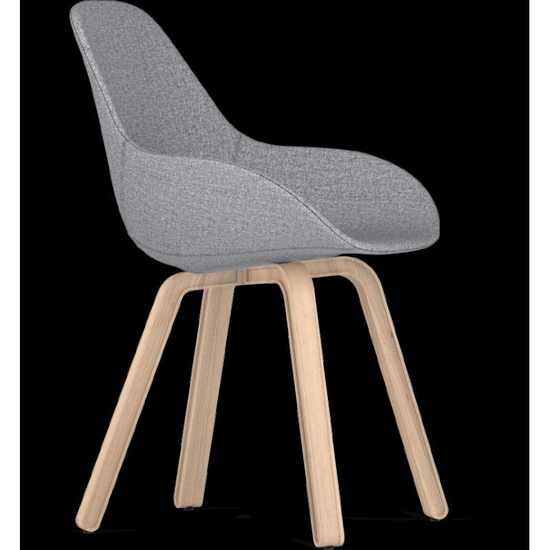 Kubikoff U Base Dimple Pop Shell Chair Oak