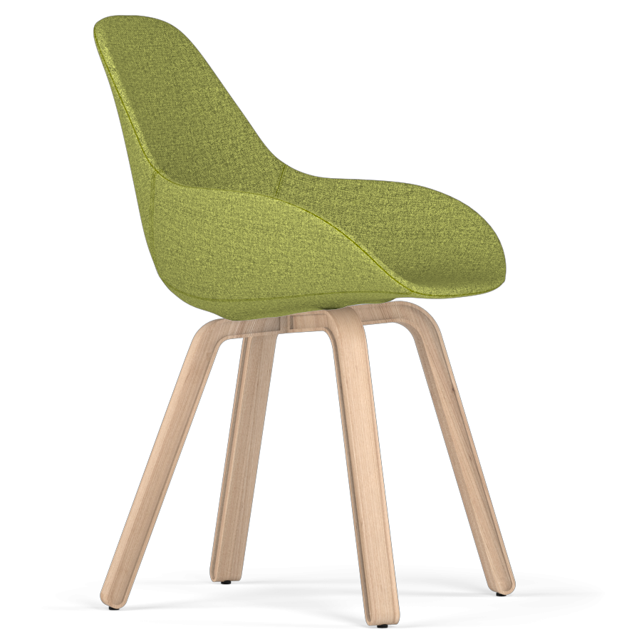 Kubikoff Natural Oak Wood Dimple Shell Chair