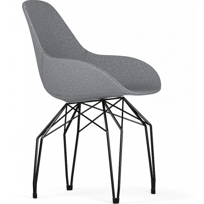 Kubikoff Diamond Base Chair With Dimple Tailored Shell | Fabric