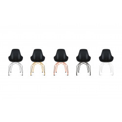 Kubikoff Chrome Diamond Base Chair With Dimple Shell