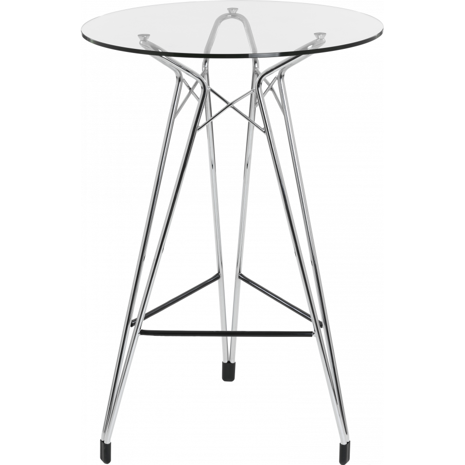 Kubikoff Diamond Base Bar Table With Circular Glass Top