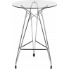 Kubikoff Diamond Base Bar Table With Circular Glass Top