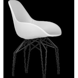 Kubikoff Black Diamond Base Chair - Leather