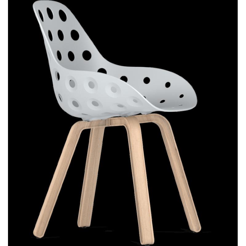 Kubikoff Natural Oak Wood U Base Chair