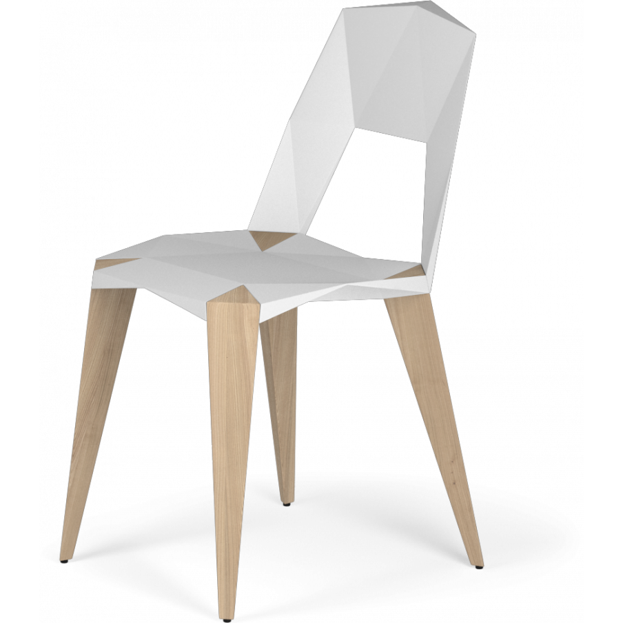 Kubikoff Pythagoras-4 Chair Black | White Structure