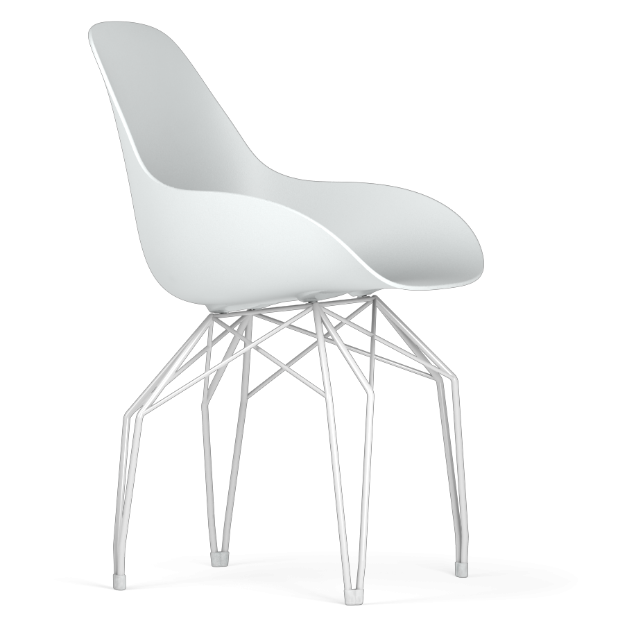 Kubikoff White Diamond Base Chair