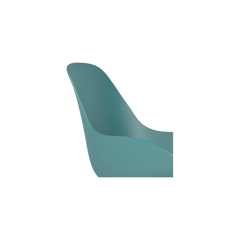 Kubikoff Black Double Base Chair With Dimple Shell