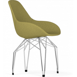 Kubikoff Chrome Diamond Base Chair | Fabric