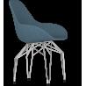 Kubikoff Chrome Diamond Base Chair | Fabric