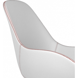 Kubikoff Black Diamond Base Chair With Tailored Shell   Leather