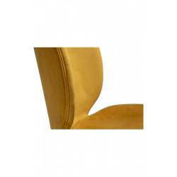 Dan-Form Cloud Bronze Velvet Fabric Dining Chair with Black Legs