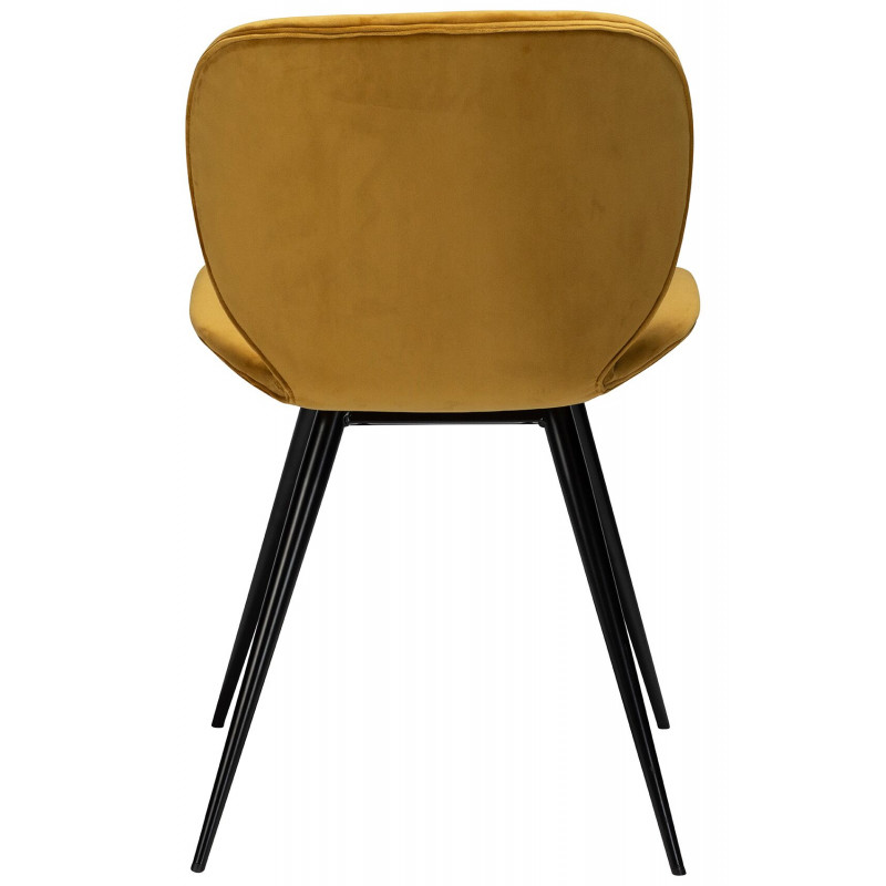 Dan-Form Cloud Bronze Velvet Fabric Dining Chair with Black Legs