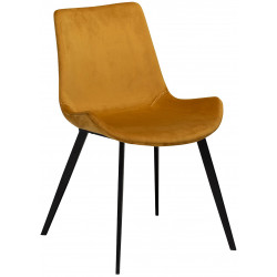 Dan-Form Hype Bronze Velvet Dining Chair with Black Legs