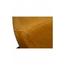 Dan-Form Hype Bronze Velvet Dining Chair with Black Legs