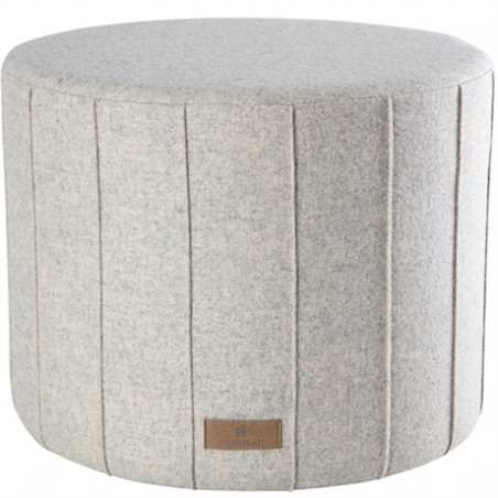 Shepherd Of Sweden Anja Round wool Pouf, Cream