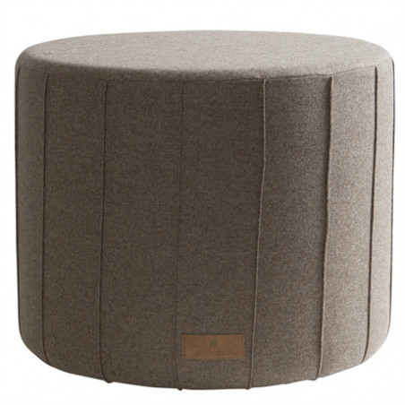 Shepherd Of Sweden Anja Round wool Pouf | Cappuccino