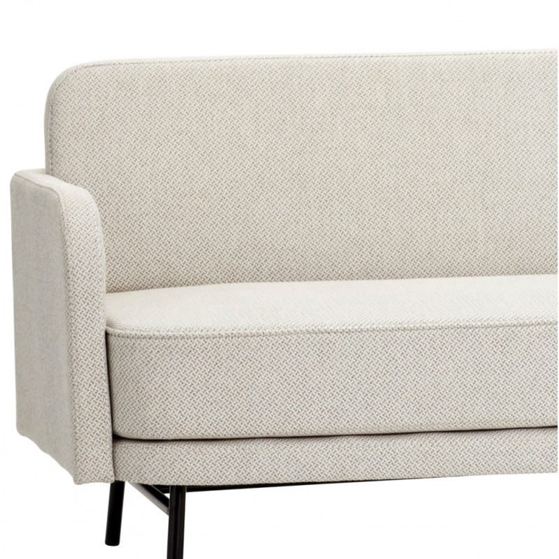 The Hubsch 3 Seater Sofa with Black Metal Legs