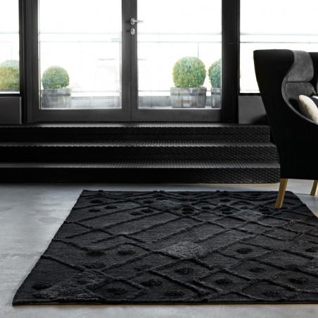 Massimo Afghan Bur-Bur Wool Rug Dark