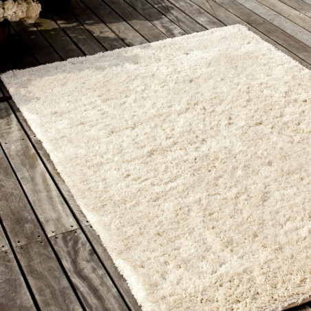 Massimo Handwoven RYA Cream Shag Pile Wool Rug | 4 Sizes