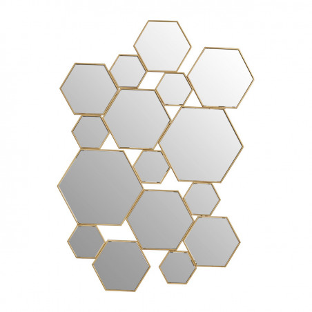 Multi Hexagon Mirror Gold