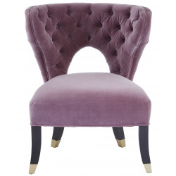 Occasional Chair in Lilac Velvet