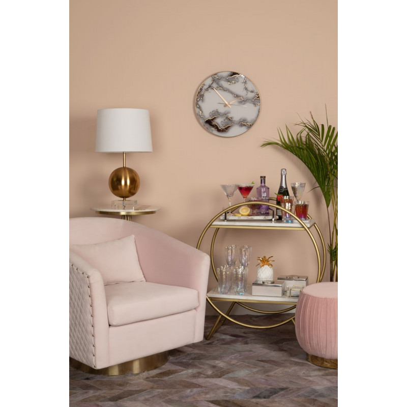 Miami Lounge Chair in Soft Pink Velvet