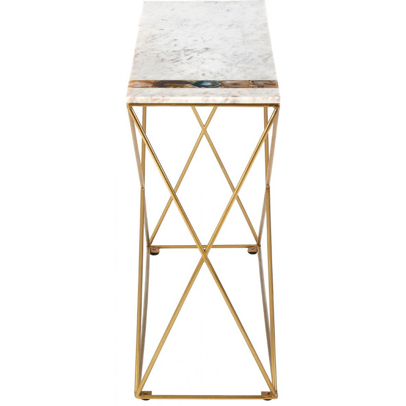 Console Table with Marble and Agate Top