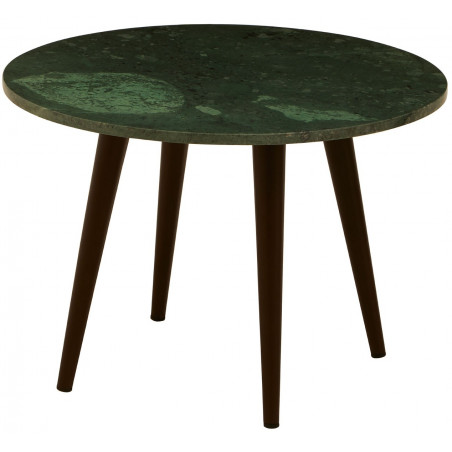 Side Table with Green Marble Top