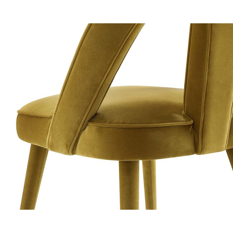 Liang & Eimil Pigalle Dining Chair in Kaster Mustard Velvet