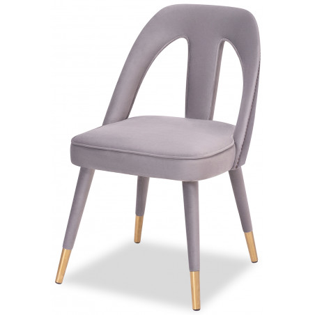 Liang & Eimil Pigalle Dining Chair in Kaster Light Grey Velvet