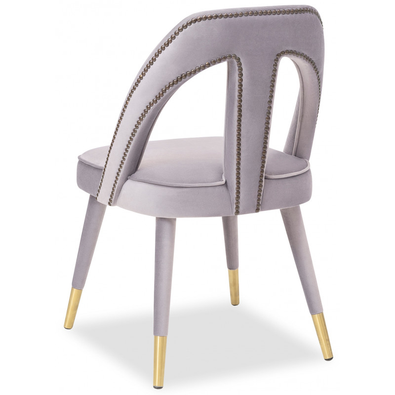 Liang & Eimil Pigalle Dining Chair in Kaster Light Grey Velvet