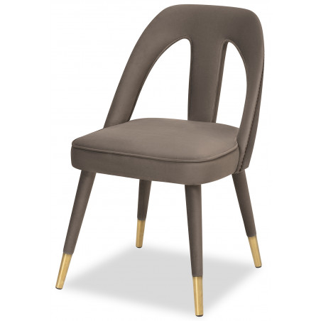 Liang & Eimil Pigalle Dining Chair in Kaster Toscan Grey Velvet